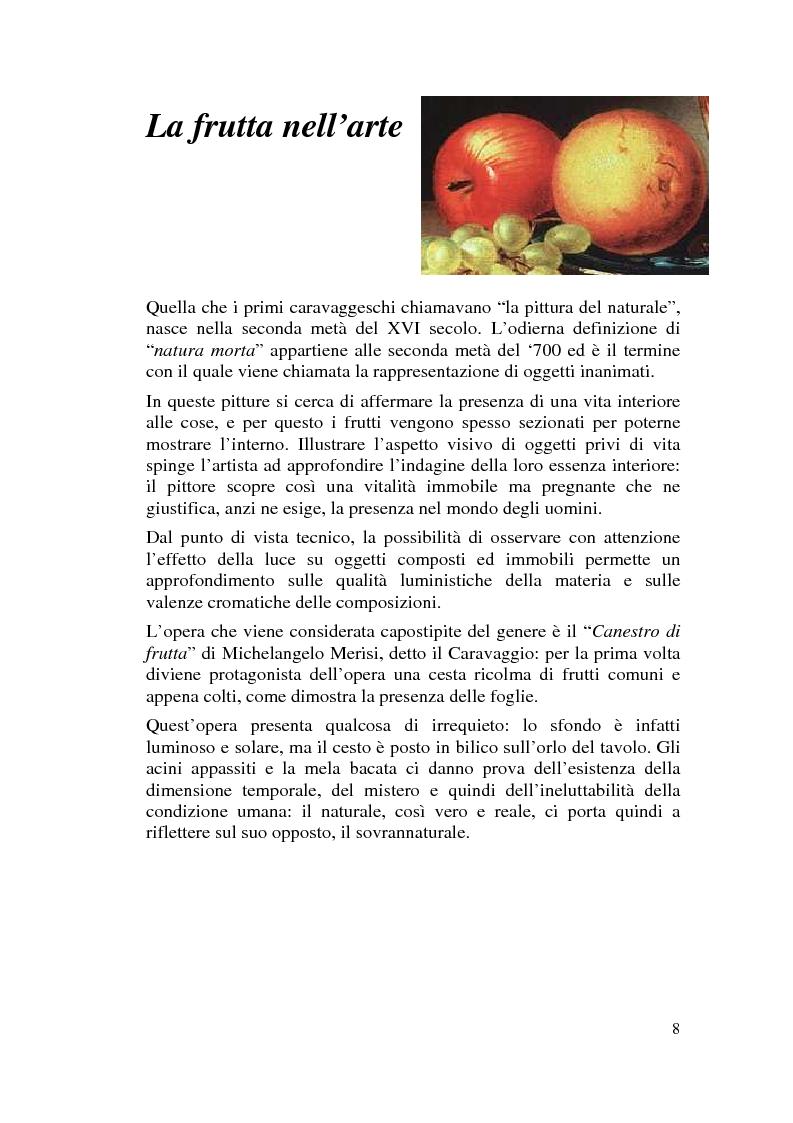 Anteprima della tesi: Il cibo nell'arte, proposta di mostra ''Mangia la Mela'', Pagina 6