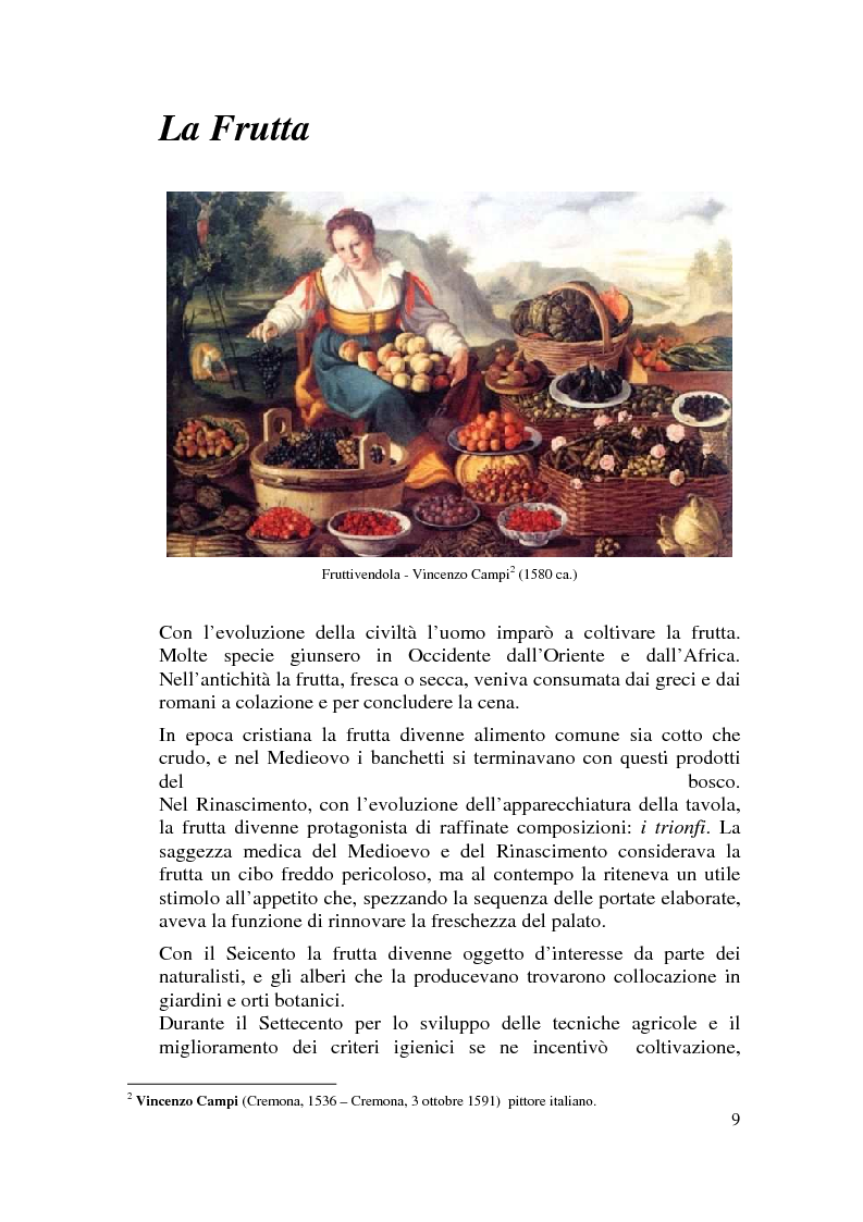 Anteprima della tesi: Il cibo nell'arte, proposta di mostra ''Mangia la Mela'', Pagina 7