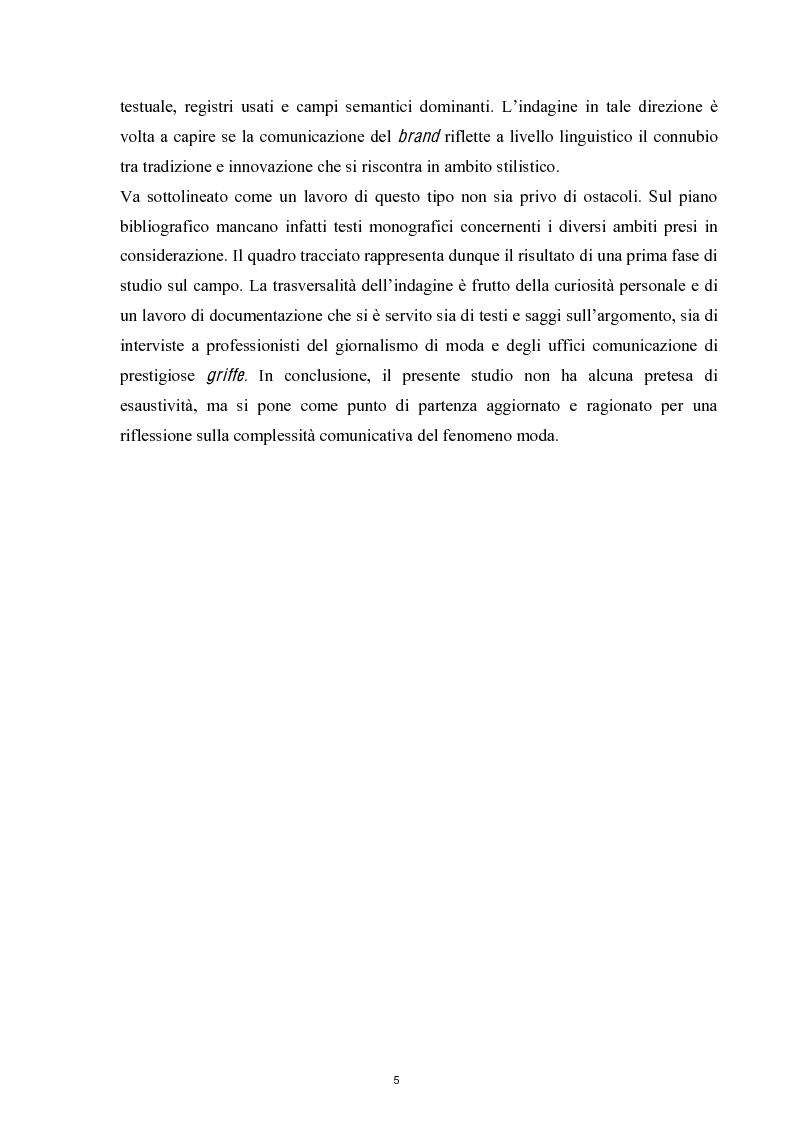 Anteprima della tesi: Linguaggi di sartorialità. La comunicazione di Pret-à-Porter e Haute Couture in Federico Sangalli, Pagina 3