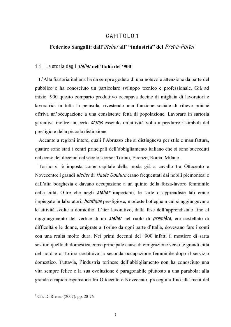 Anteprima della tesi: Linguaggi di sartorialità. La comunicazione di Pret-à-Porter e Haute Couture in Federico Sangalli, Pagina 4