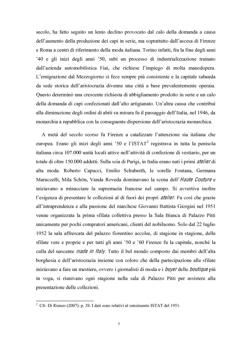 Anteprima della tesi: Linguaggi di sartorialità. La comunicazione di Pret-à-Porter e Haute Couture in Federico Sangalli, Pagina 5