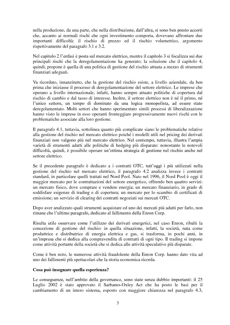 Anteprima della tesi: La gestione del rischio nel mercato elettrico, Pagina 2