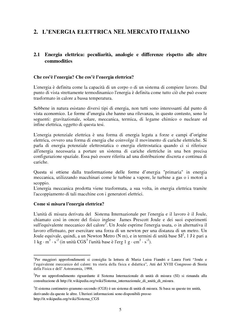 Anteprima della tesi: La gestione del rischio nel mercato elettrico, Pagina 4
