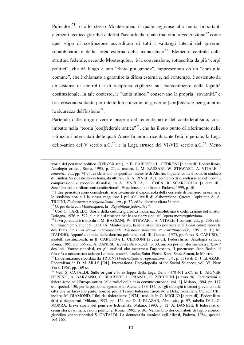 Anteprima della tesi: Regionalismo e federalismo in Italia e in Germania. Due modelli a confronto e profili di cooperazione transfrontaliera., Pagina 10