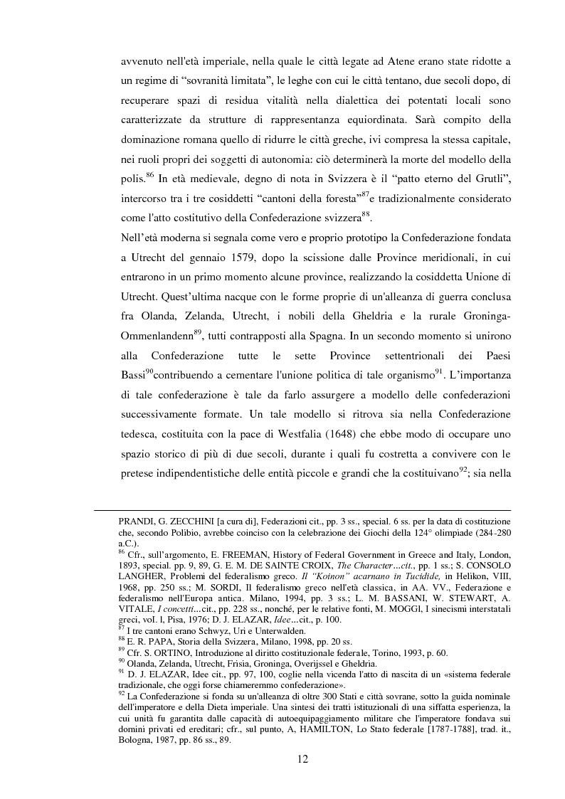 Anteprima della tesi: Regionalismo e federalismo in Italia e in Germania. Due modelli a confronto e profili di cooperazione transfrontaliera., Pagina 12