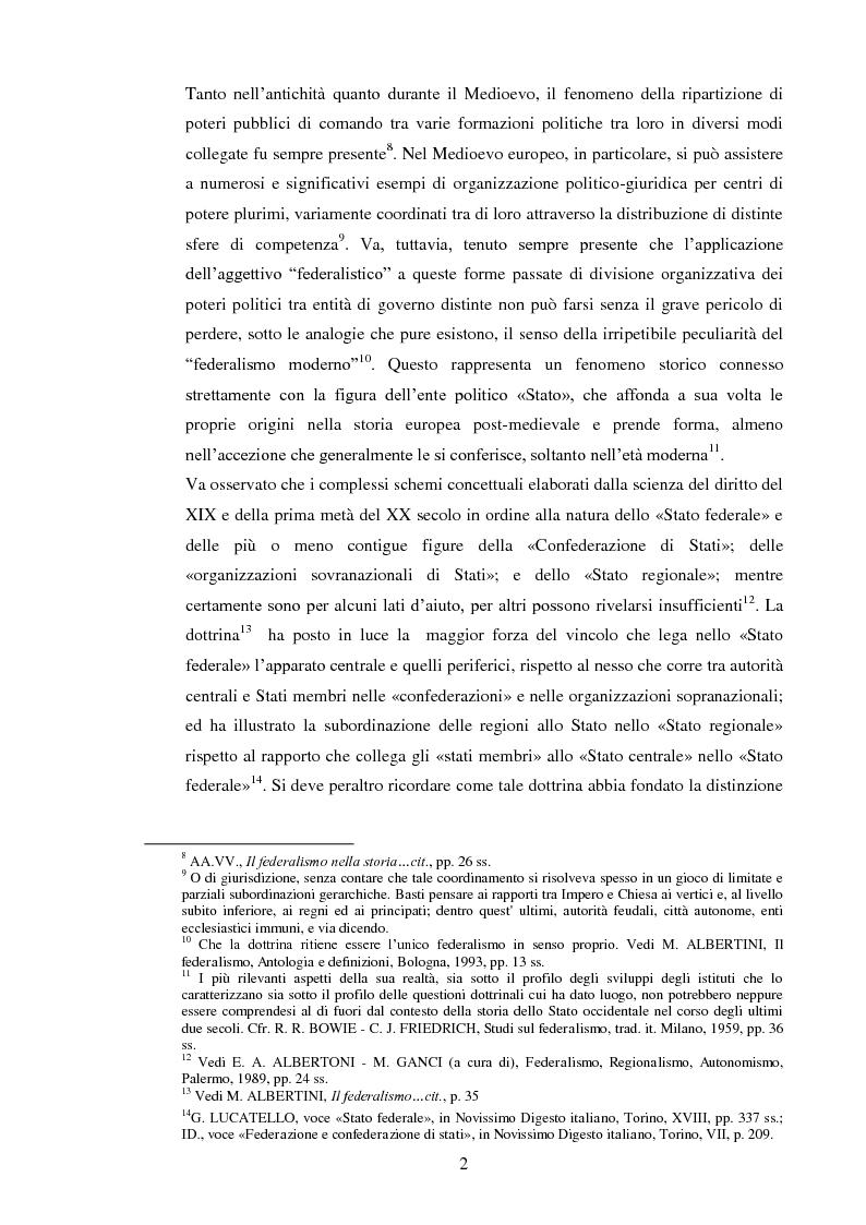Anteprima della tesi: Regionalismo e federalismo in Italia e in Germania. Due modelli a confronto e profili di cooperazione transfrontaliera., Pagina 2