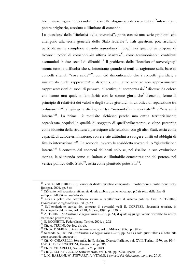 Anteprima della tesi: Regionalismo e federalismo in Italia e in Germania. Due modelli a confronto e profili di cooperazione transfrontaliera., Pagina 3