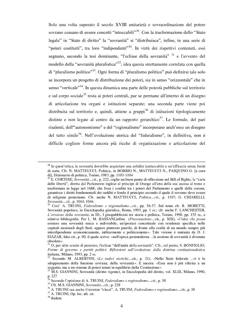 Anteprima della tesi: Regionalismo e federalismo in Italia e in Germania. Due modelli a confronto e profili di cooperazione transfrontaliera., Pagina 4