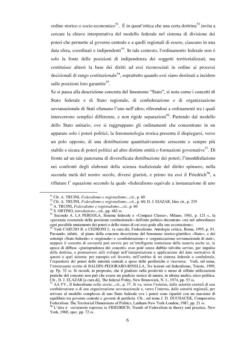 Anteprima della tesi: Regionalismo e federalismo in Italia e in Germania. Due modelli a confronto e profili di cooperazione transfrontaliera., Pagina 6