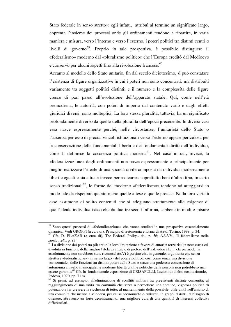 Anteprima della tesi: Regionalismo e federalismo in Italia e in Germania. Due modelli a confronto e profili di cooperazione transfrontaliera., Pagina 7