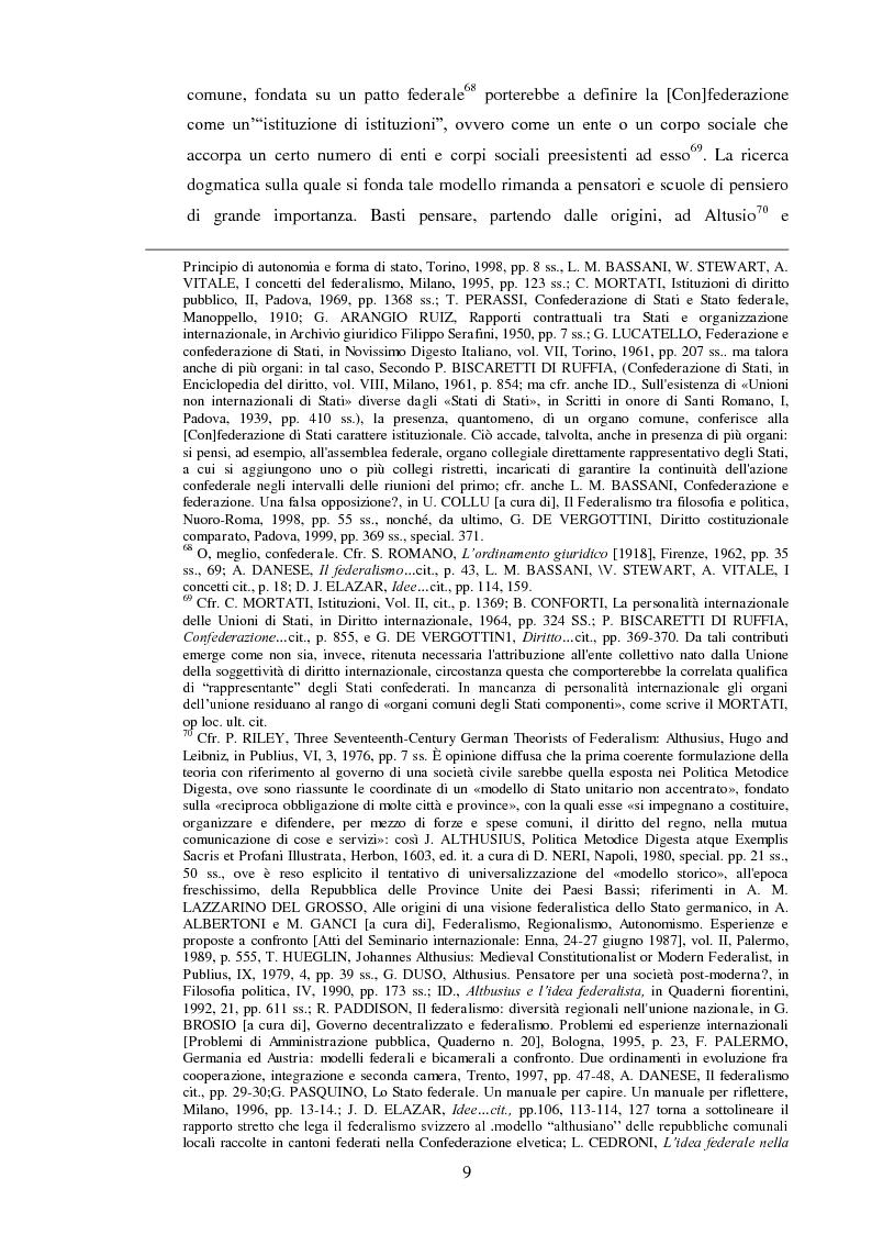 Anteprima della tesi: Regionalismo e federalismo in Italia e in Germania. Due modelli a confronto e profili di cooperazione transfrontaliera., Pagina 9