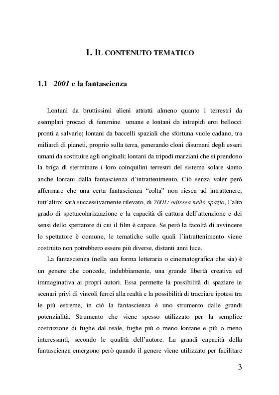 Anteprima della tesi: 2001: odissea nello spazio, analisi del film, Pagina 3