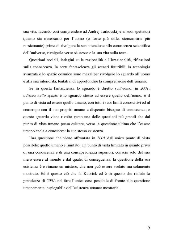 Anteprima della tesi: 2001: odissea nello spazio, analisi del film, Pagina 5