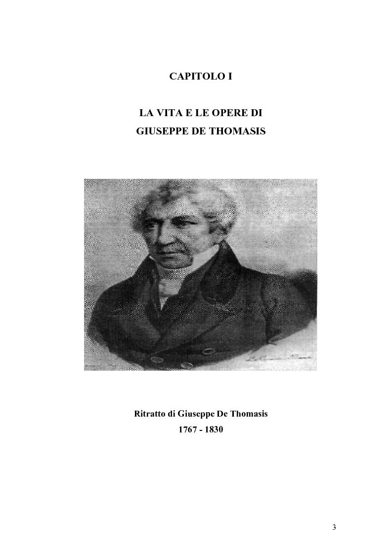 Anteprima della tesi: Giuseppe de Thomasis e le istituzioni dello Stato Meridionale, Pagina 1