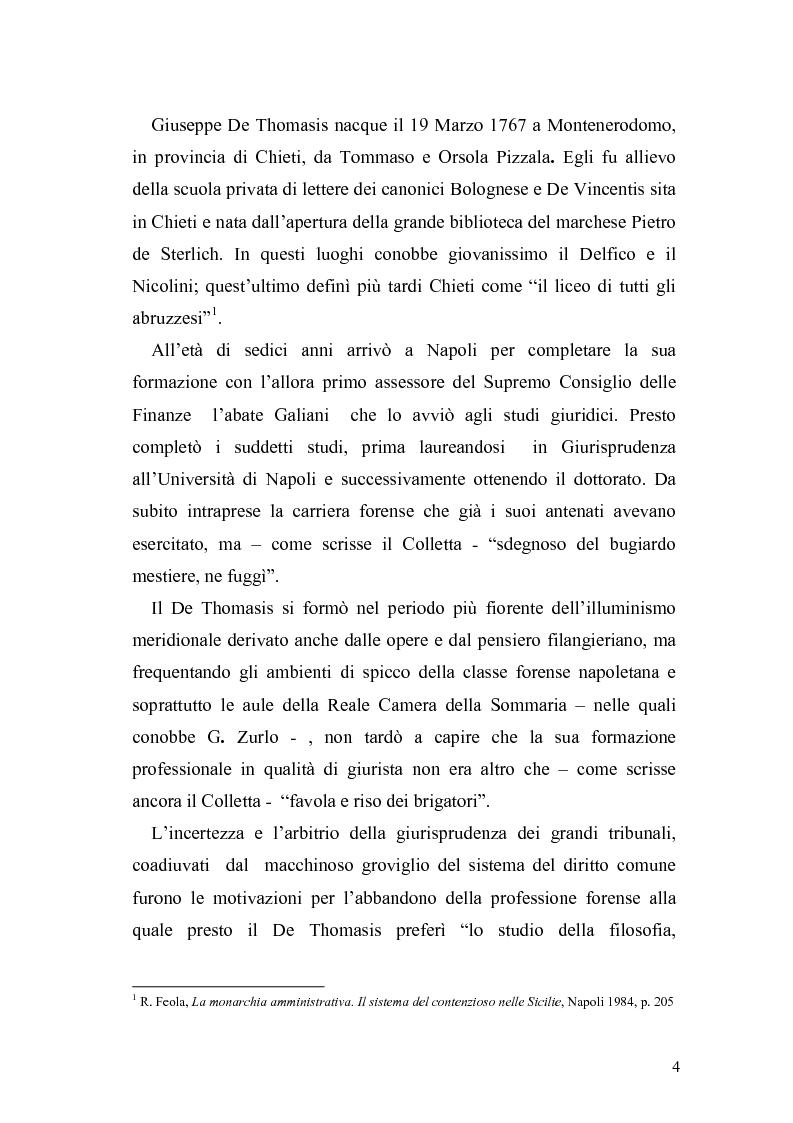 Anteprima della tesi: Giuseppe de Thomasis e le istituzioni dello Stato Meridionale, Pagina 2