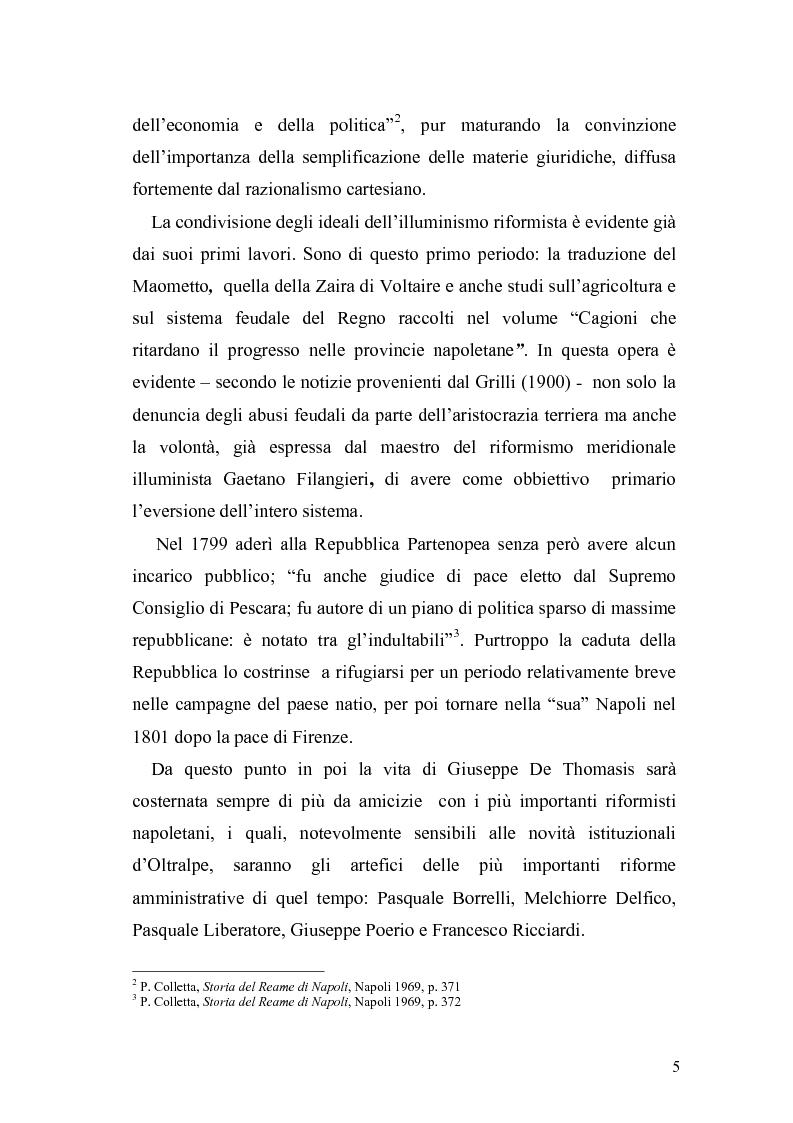 Anteprima della tesi: Giuseppe de Thomasis e le istituzioni dello Stato Meridionale, Pagina 3