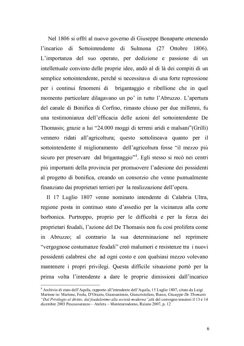 Anteprima della tesi: Giuseppe de Thomasis e le istituzioni dello Stato Meridionale, Pagina 4