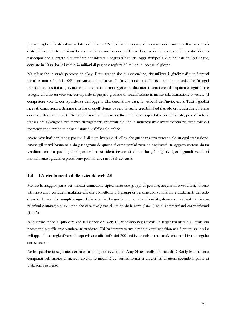 Anteprima della tesi: Web 2.0: caratteristiche e potenzialità, Pagina 4