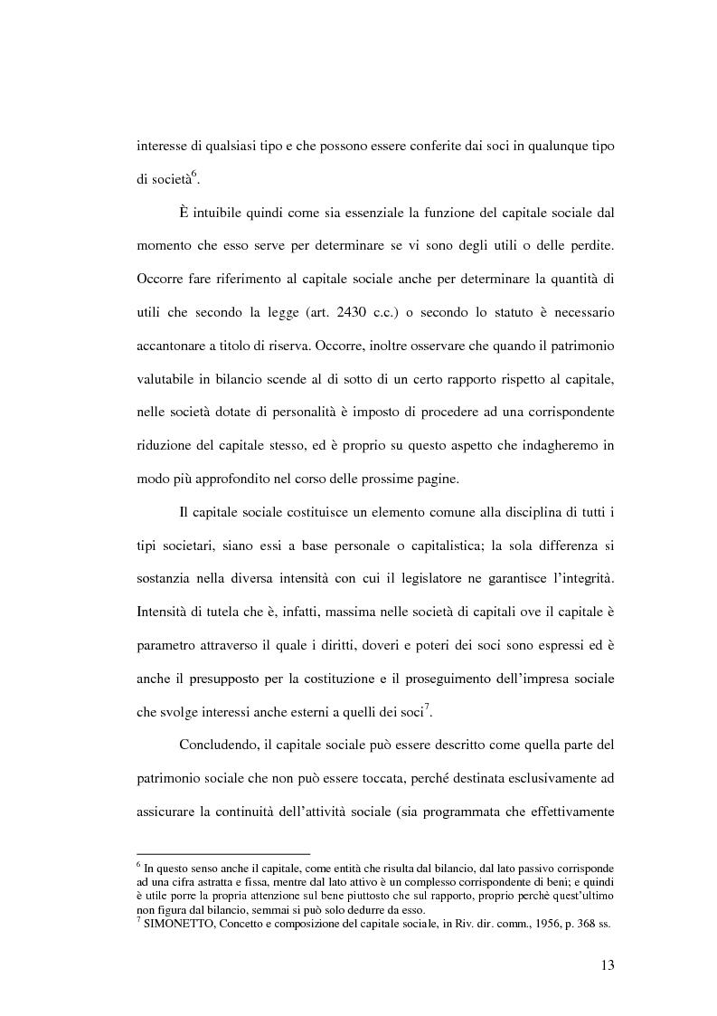 Anteprima della tesi: La riduzione del capitale sociale nella società per azioni , Pagina 5