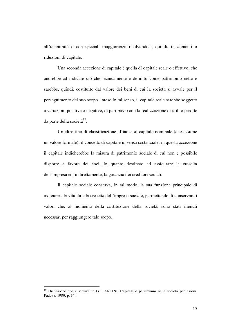 Anteprima della tesi: La riduzione del capitale sociale nella società per azioni , Pagina 7