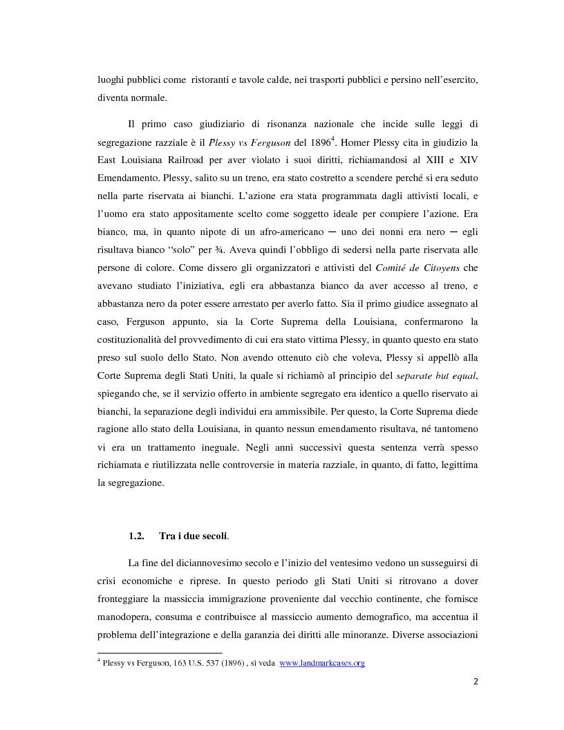 Anteprima della tesi: Un'esperienza di integrazione: Affirmative Action negli Stati Uniti d'America, Pagina 4
