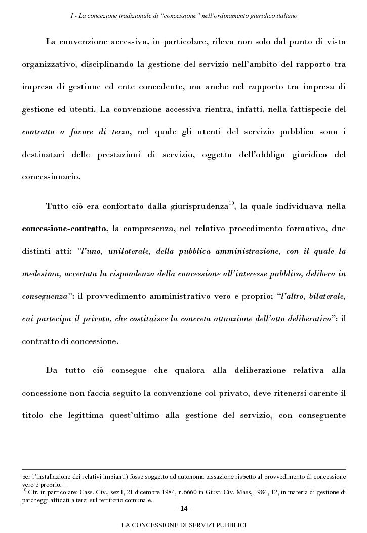 Anteprima della tesi: La concessione di servizi pubblici, Pagina 11