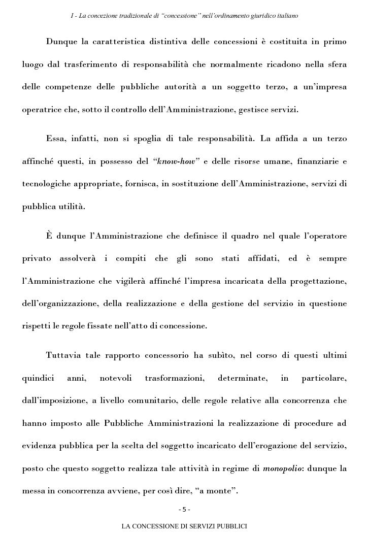 Anteprima della tesi: La concessione di servizi pubblici, Pagina 2