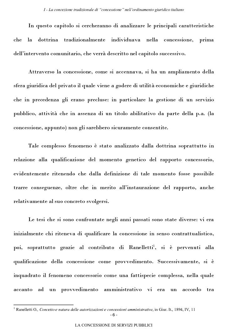Anteprima della tesi: La concessione di servizi pubblici, Pagina 3
