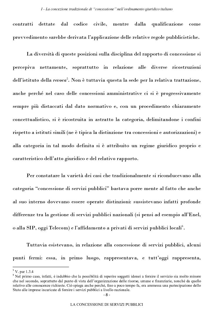 Anteprima della tesi: La concessione di servizi pubblici, Pagina 5