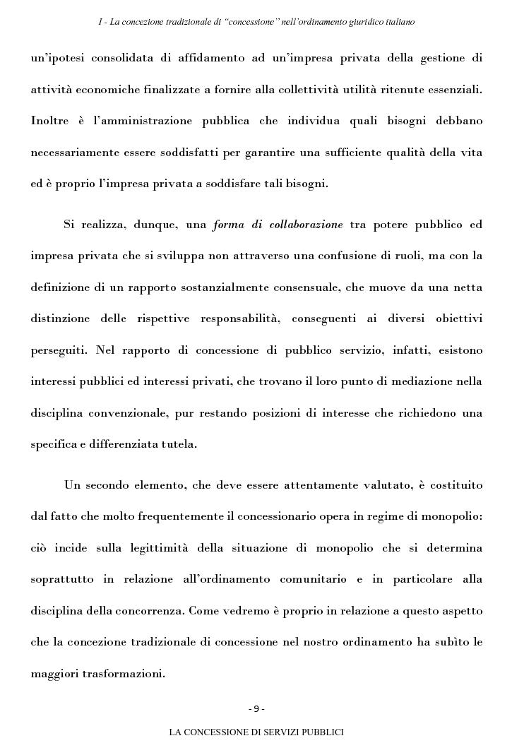 Anteprima della tesi: La concessione di servizi pubblici, Pagina 6