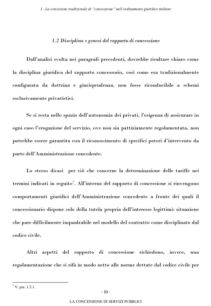 Anteprima della tesi: La concessione di servizi pubblici, Pagina 7