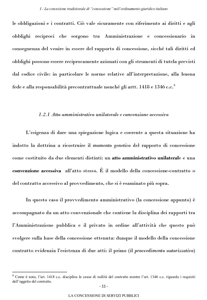 Anteprima della tesi: La concessione di servizi pubblici, Pagina 8