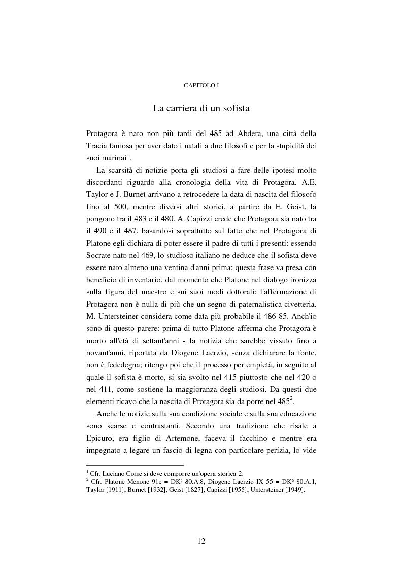 Anteprima della tesi: Il filosofo della polis. Democrazia e giustizia nel pensiero di Protagora., Pagina 10