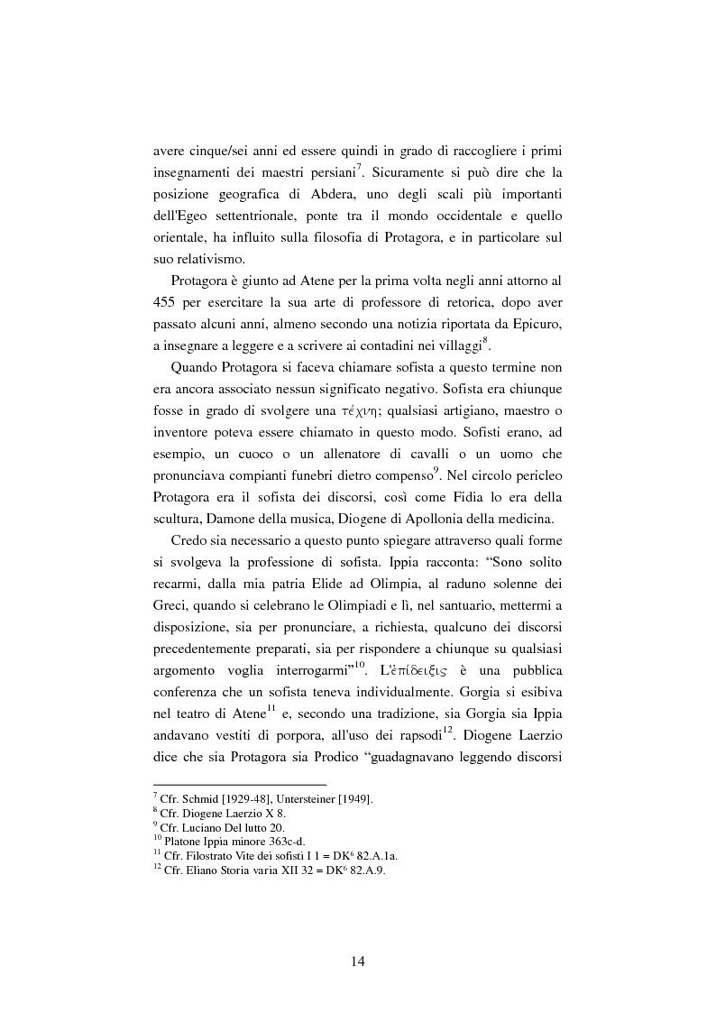 Anteprima della tesi: Il filosofo della polis. Democrazia e giustizia nel pensiero di Protagora., Pagina 12