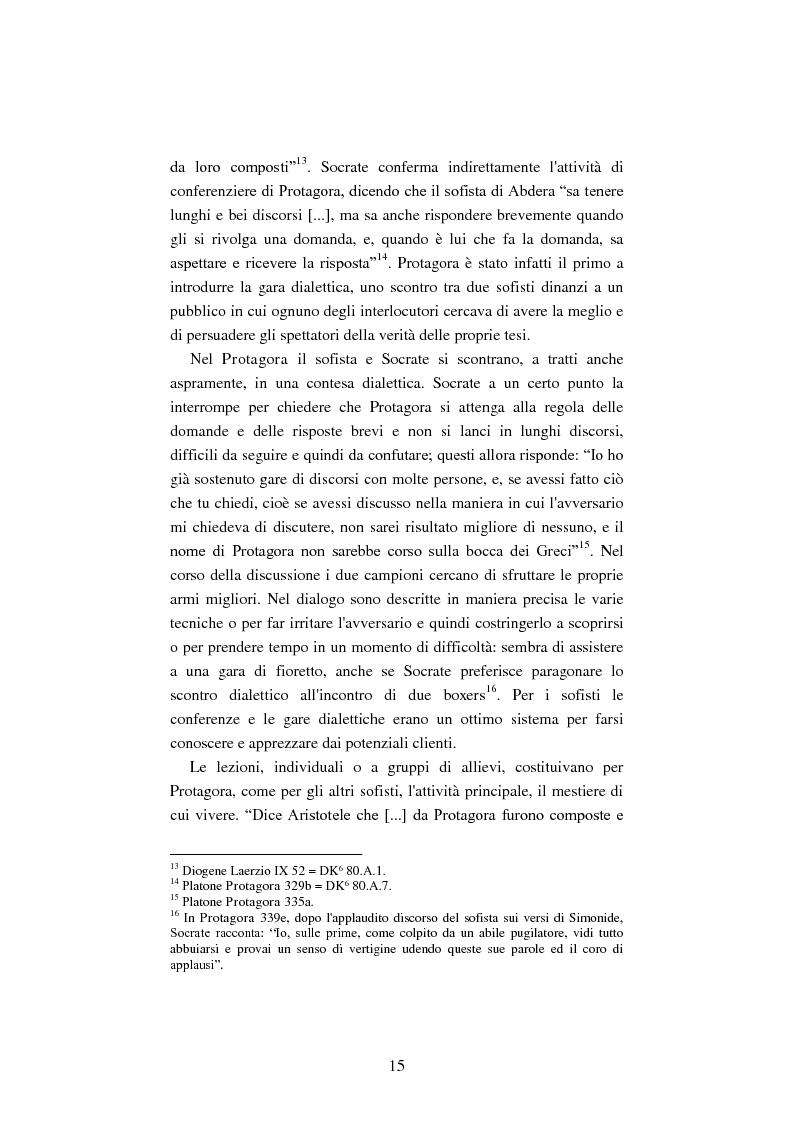 Anteprima della tesi: Il filosofo della polis. Democrazia e giustizia nel pensiero di Protagora., Pagina 13
