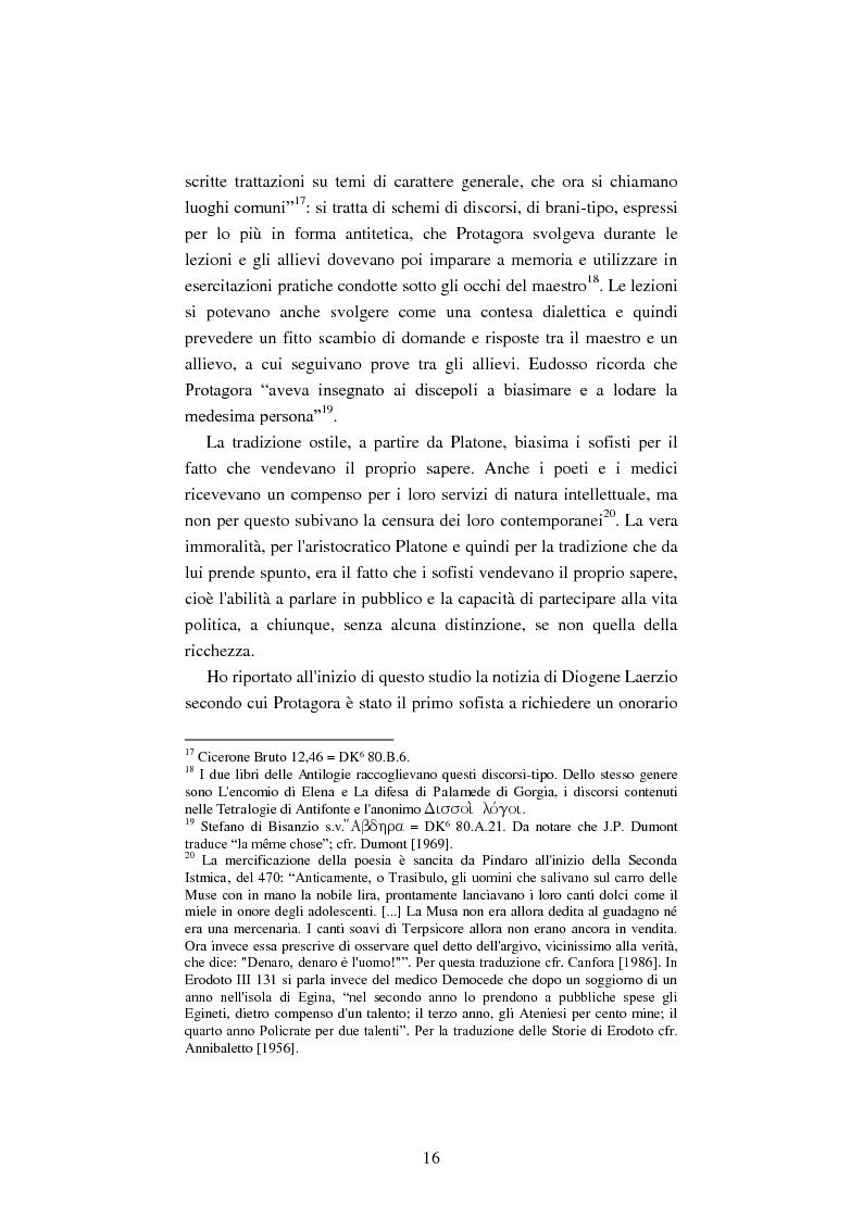 Anteprima della tesi: Il filosofo della polis. Democrazia e giustizia nel pensiero di Protagora., Pagina 14
