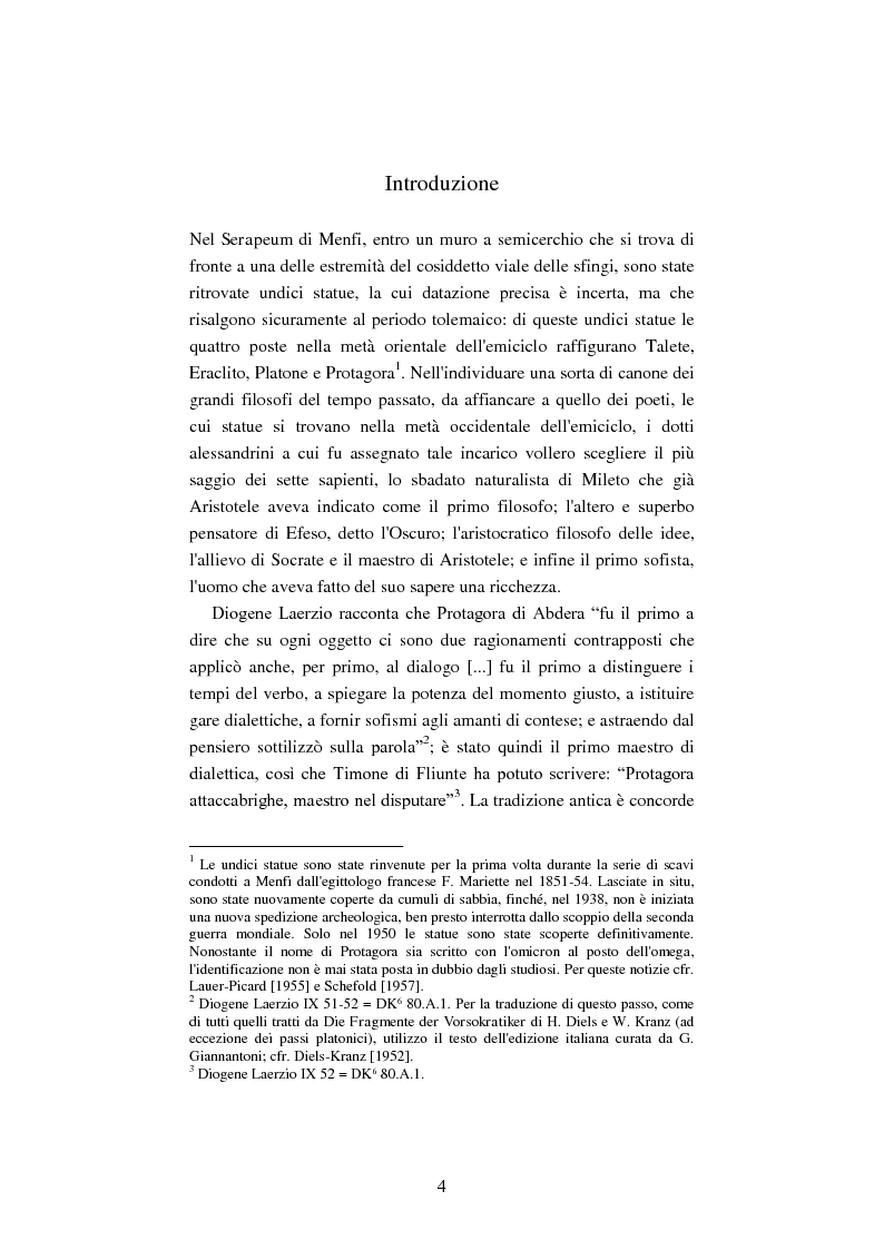 Anteprima della tesi: Il filosofo della polis. Democrazia e giustizia nel pensiero di Protagora., Pagina 2