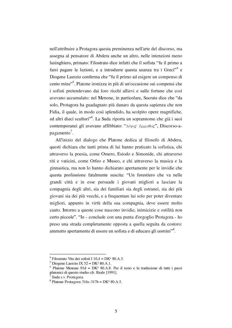 Anteprima della tesi: Il filosofo della polis. Democrazia e giustizia nel pensiero di Protagora., Pagina 3