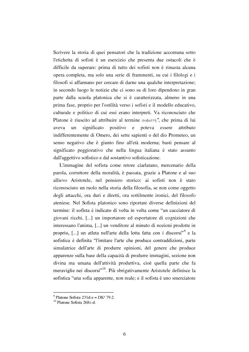 Anteprima della tesi: Il filosofo della polis. Democrazia e giustizia nel pensiero di Protagora., Pagina 4
