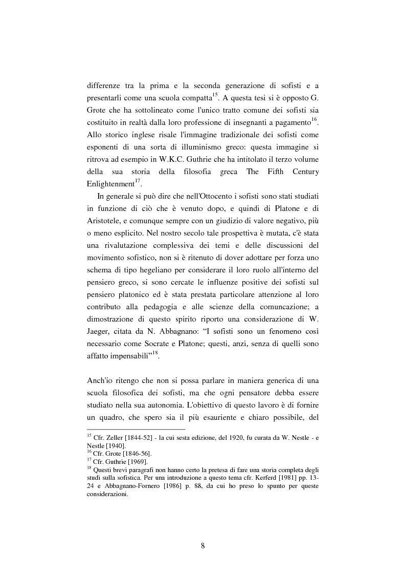 Anteprima della tesi: Il filosofo della polis. Democrazia e giustizia nel pensiero di Protagora., Pagina 6