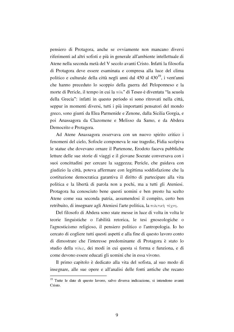 Anteprima della tesi: Il filosofo della polis. Democrazia e giustizia nel pensiero di Protagora., Pagina 7