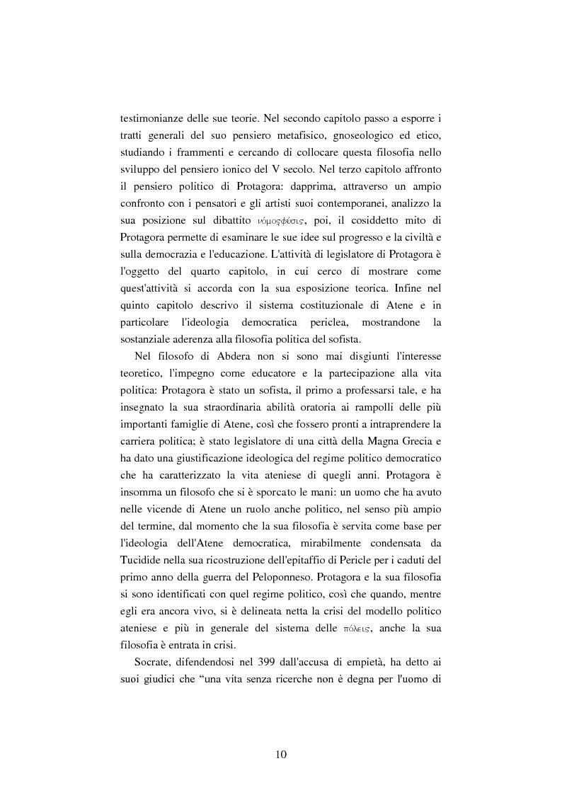 Anteprima della tesi: Il filosofo della polis. Democrazia e giustizia nel pensiero di Protagora., Pagina 8