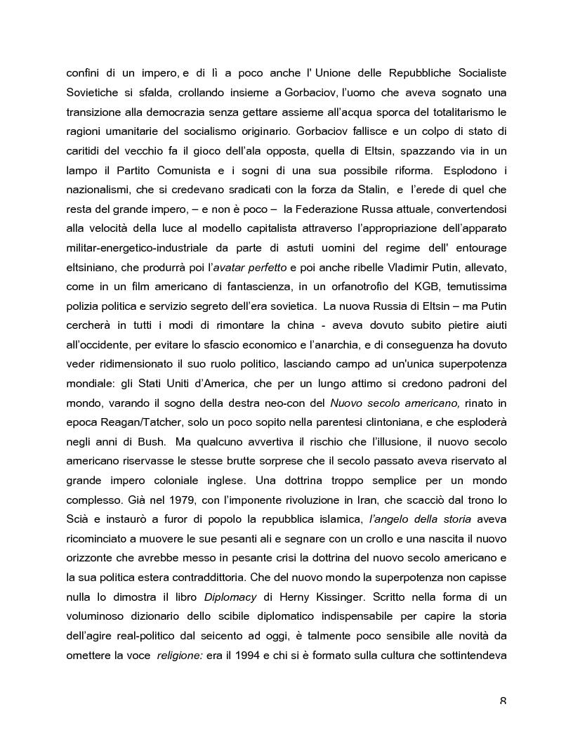 Anteprima della tesi: Il rovescio della mia mente. Viaggio in cinque stanze del male di vivere di Sarah Kane, una giovane donna di fine secolo., Pagina 8