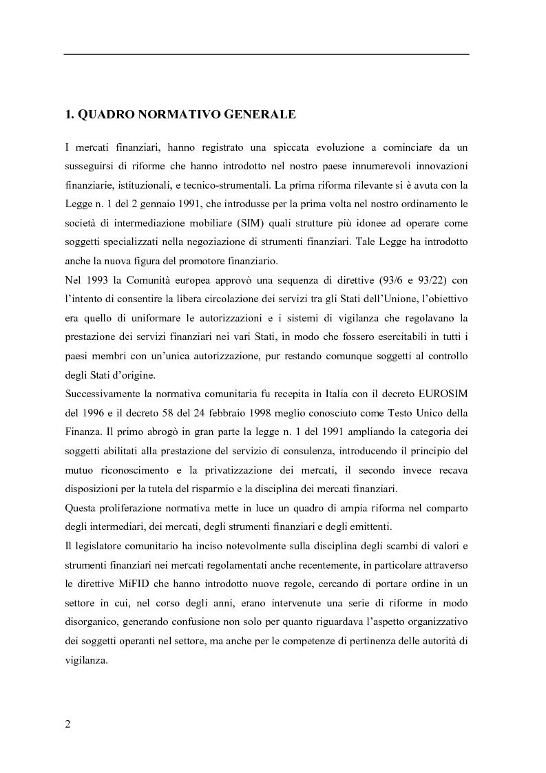 Anteprima della tesi: La consulenza finanziaria fee only, Pagina 1