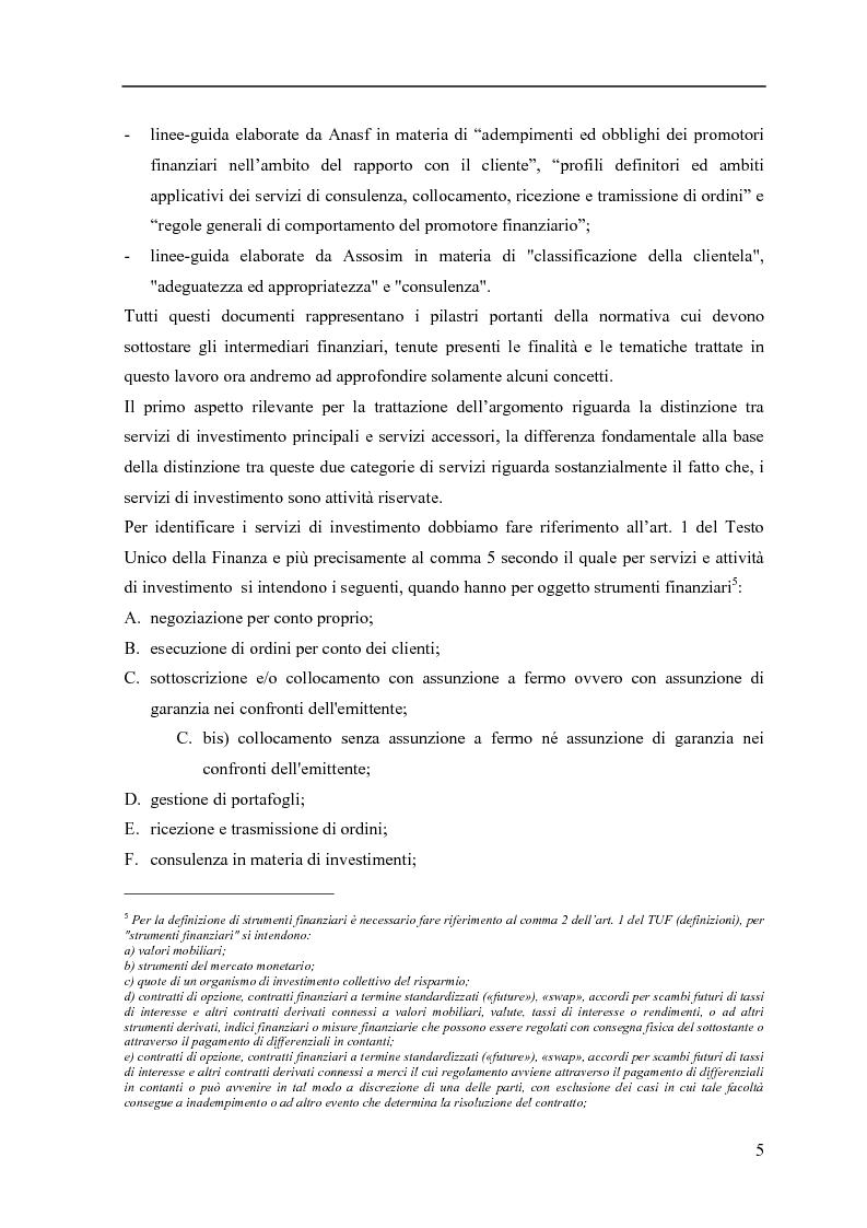 Anteprima della tesi: La consulenza finanziaria fee only, Pagina 4