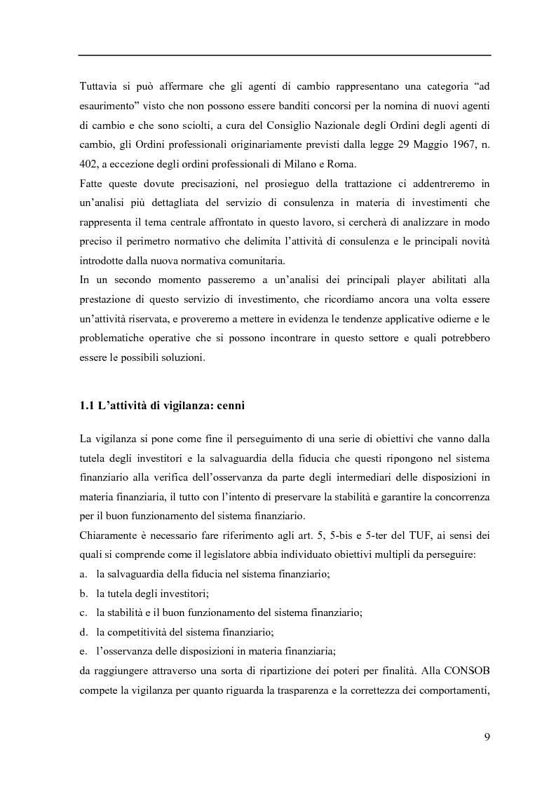 Anteprima della tesi: La consulenza finanziaria fee only, Pagina 8