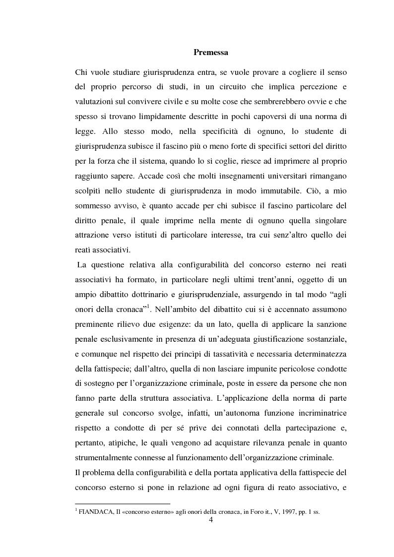 Anteprima della tesi: Il concorso eventuale di persone nel reato plurisoggettivo, Pagina 1