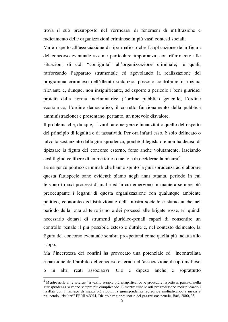 Anteprima della tesi: Il concorso eventuale di persone nel reato plurisoggettivo, Pagina 2