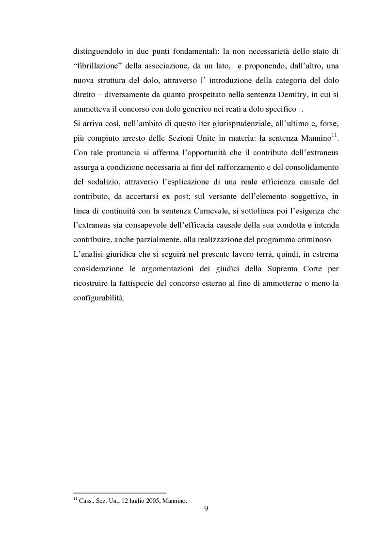 Anteprima della tesi: Il concorso eventuale di persone nel reato plurisoggettivo, Pagina 6