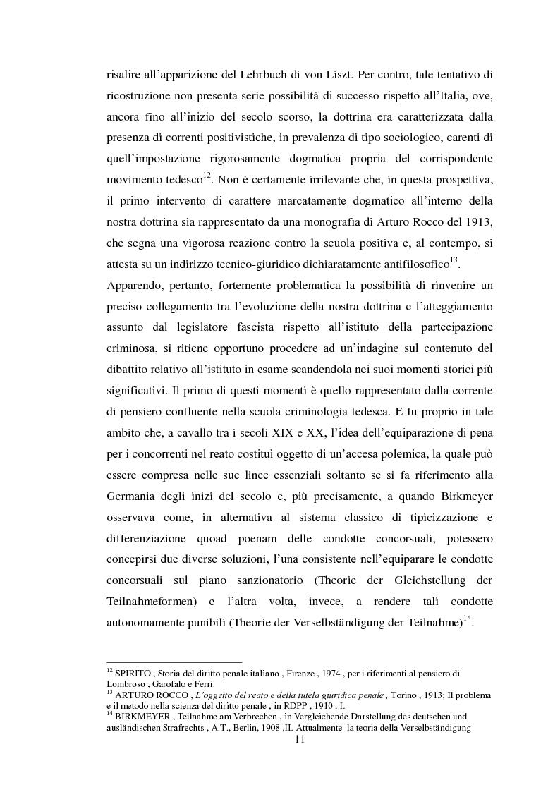 Anteprima della tesi: Il concorso eventuale di persone nel reato plurisoggettivo, Pagina 8